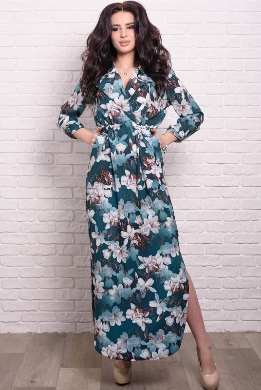 Женское платье Шимер Лилии 42 Изумрудное (017тчаптчС048)
