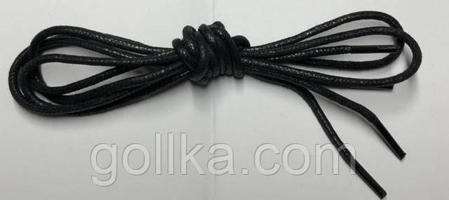 Шнурки с пропиткой круглые чёрные