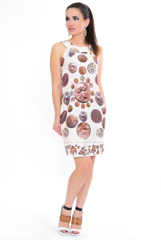Платье Cleo Монетка 44 Бежевое (017мвдС0173)