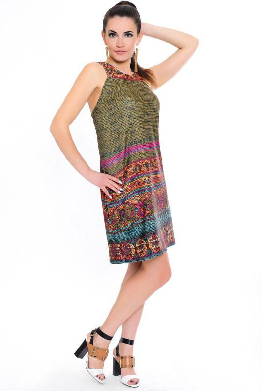 Платье CLEO Мозаика 46 Разноцветный  (017хвбС0175)