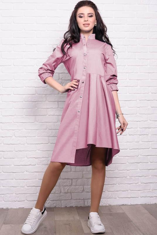 Платье с асимметрией Герда 48 Розовый (017ракрМАБ0036)