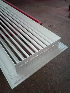 Вентиляционная линейная решетка регулируемая настенная 1000х200мм Б/У, фото 2
