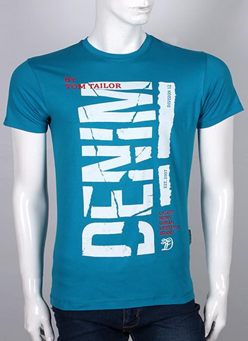 Мужская футболка Valimark Denim L Бирюзовый  (19031L)