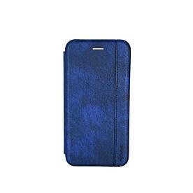 Чехол книжка для Samsung Galaxy A30 A305FD боковой с отсеком для визиток Gelius, Натуральная кожа, Темно-синий