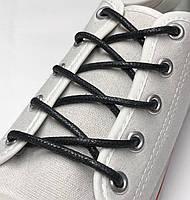 Шнурки с пропиткой круглые чёрные 140 см (Толщина 3мм), фото 1