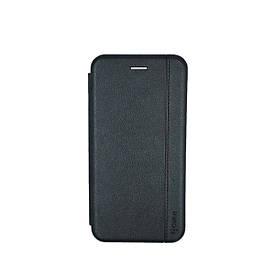 Чехол книжка для Samsung Galaxy A20 A205FZ боковой с отсеком для визиток Gelius, Натуральная кожа, черный