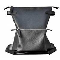 Кожаный рюкзак Jizuz Voyager VG403510B, черный