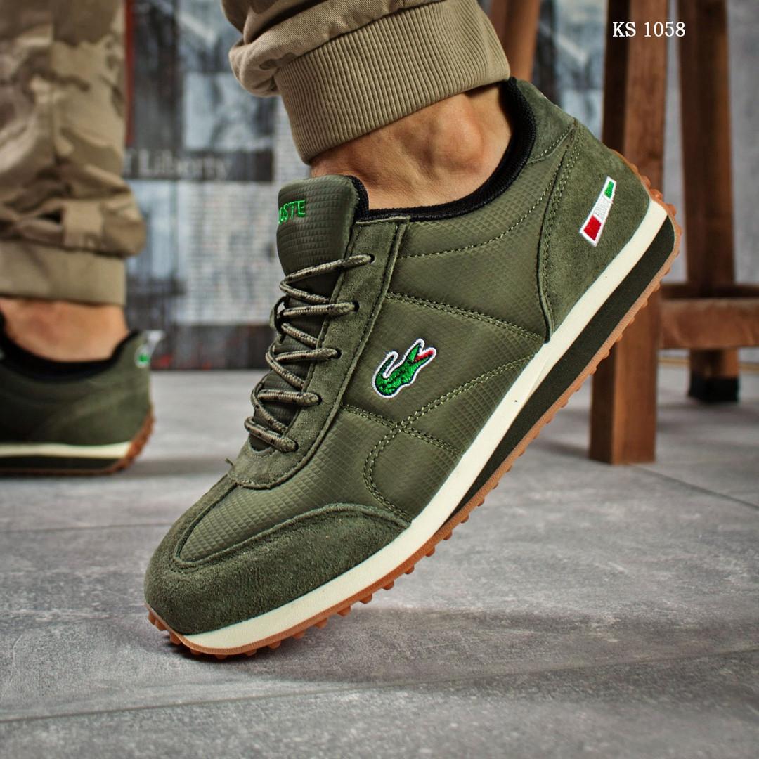 Мужские кроссовки Lacoste (зеленые)
