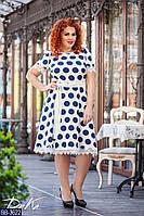 Стильное платье    (размеры 50-56)  0183-29