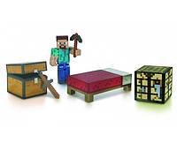 Стив набор для выживания Майнкрафт / Minecraft Survival Pack Steve Action Figure