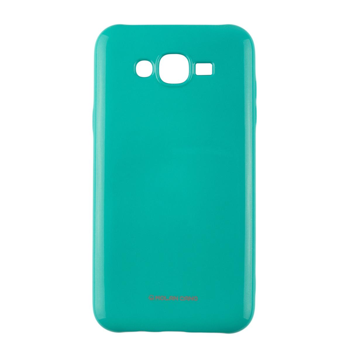 Оригинальный глянцевый чехол с микро-блеском Molan Cano Jelly Case для Samsung Galaxy J7 Neo (j701) (бирюза)