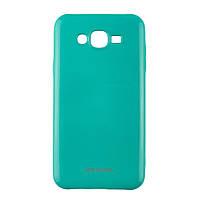 Оригинальный глянцевый чехол с микро-блеском Molan Cano Jelly Case для Samsung Galaxy J7 Neo (j701) (бирюза), фото 1