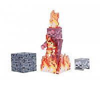 Скелет в огне Майнкрафт / Minecraft Skeleton on Fire Action Figure Pack