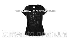 Жіноча футболка Porsche women's T-shirt – Porsche Crest, Black