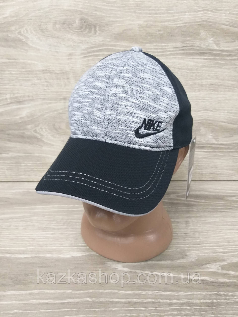 Мужская кепка, бейсболка, вышивка логотипа в стиле Nike (реплика),  размер 54-56, на регуляторе