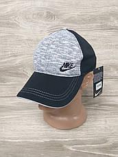 Мужская кепка, бейсболка, вышивка логотипа в стиле Nike (реплика),  размер 54-56, на регуляторе, фото 3