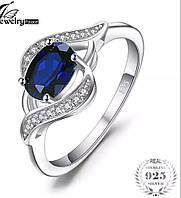Серебряное кольцо PANDORA - синий сапфир 100%КАЧЕСТВО!