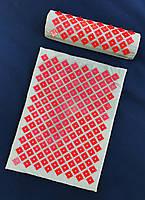 Аппликатор коврик и подушка (валик) Кузнецова Массажный массажер для спины/ног набор VMSport (apl-006-7)