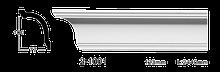 Карниз потолочный гладкий Classic Home 2-1001, лепной декор из полиуретана