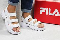 Женские,подростковые летние сандали Fila White