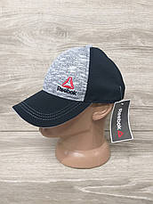 Мужская кепка, бейсболка, вышивка логотипа в стиле Reebok (реплика),  размер 54-56, на регуляторе, фото 2