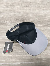 Мужская кепка, бейсболка, вышивка логотипа в стиле Reebok (реплика),  размер 54-56, на регуляторе, фото 3