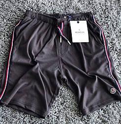 Шорти мужские летние пляжные черные MONCLER черные. Живое фото