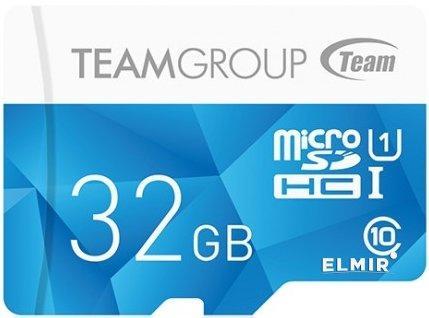 TEAM Color Blue micro SDHC UHS-I Class 10 32 GB без адаптера (TCUSDH32GUHS02)