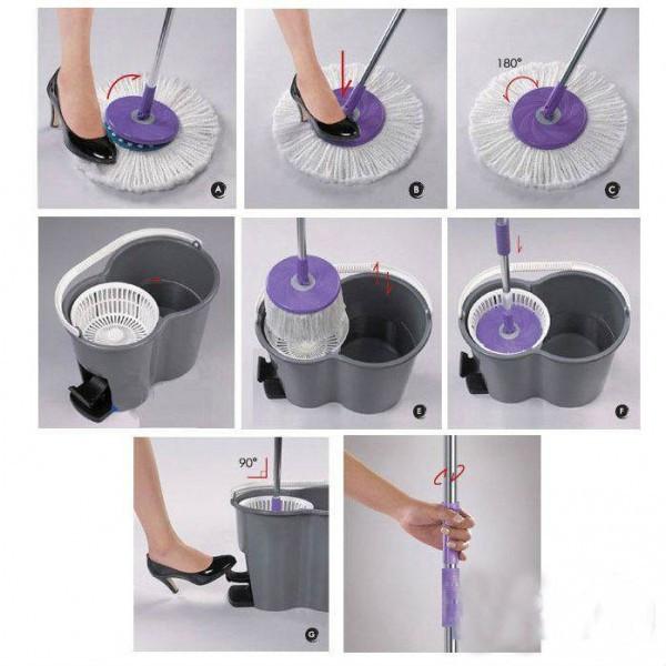 Швабра Magic Mop telescopic rotating