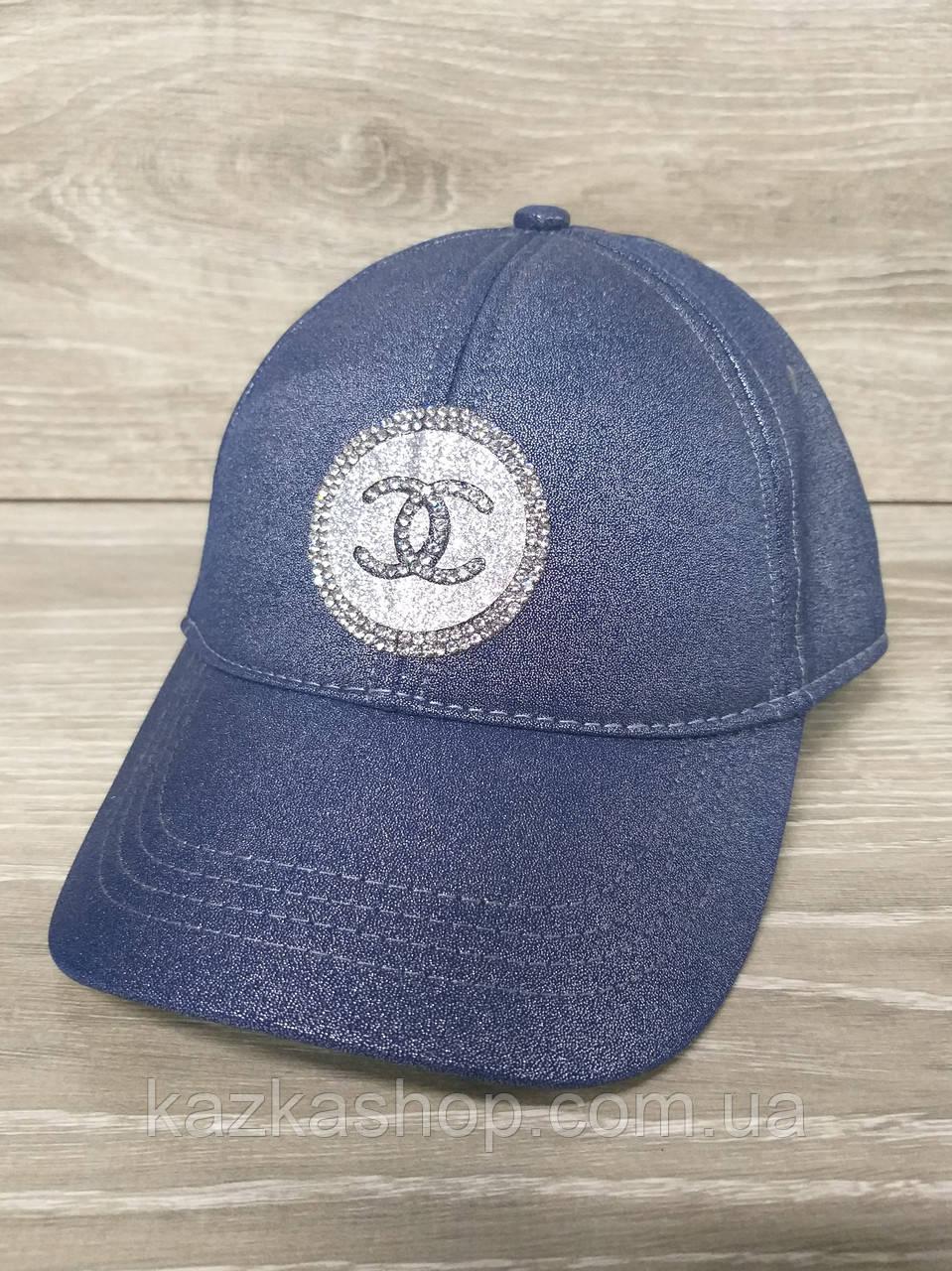 Женская, бейсболка, кепка, из люрекса, размер 55-57, на регуляторе липучке