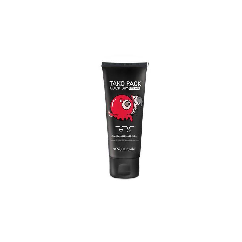 Черная маска-пленка очищающая поры NIGHTINGALE QUICK DRY TAKO PACK PEEL OFF, 100 мл