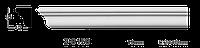 Карниз потолочный гладкий Classic Home 2-0150, лепной декор из полиуретана