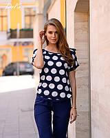 Новинка!!! Женское модное летнее Костюм брюки +блуза батал