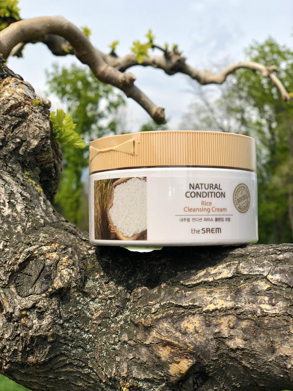 Очищающий  крем-гель с рисом для проблемной кожи 300 The Saem Natural Condition Rice Cleansing Cream