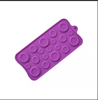 Планшет кондитерский Силиконовая форма молд  пуговки пуговички