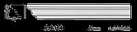 Карниз потолочный гладкий Classic Home 2-0180, лепной декор из полиуретана.