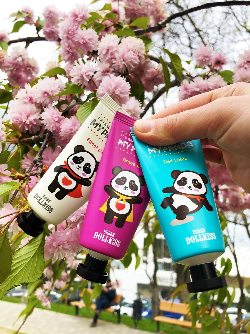 Осветляющий крем для рук 12 мл Urban Dollkiss It's Real My Panda Hand Cream (Sweet Citron)