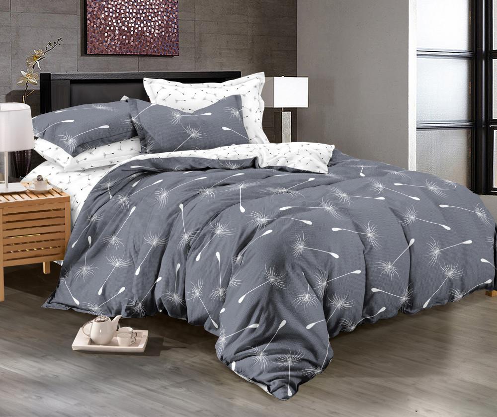 Комплект постельного белья евро на резинке 200*220 хлопок (12069) TM KRISPOL Украина