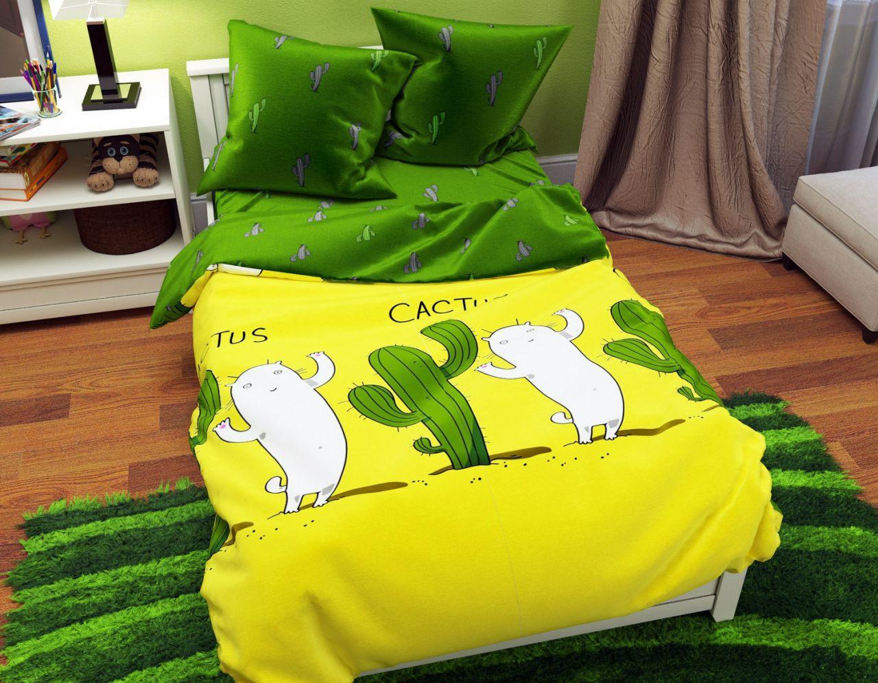 Комплект постельного белья евро на резинке 200*220 хлопок (12075) TM KRISPOL Украина