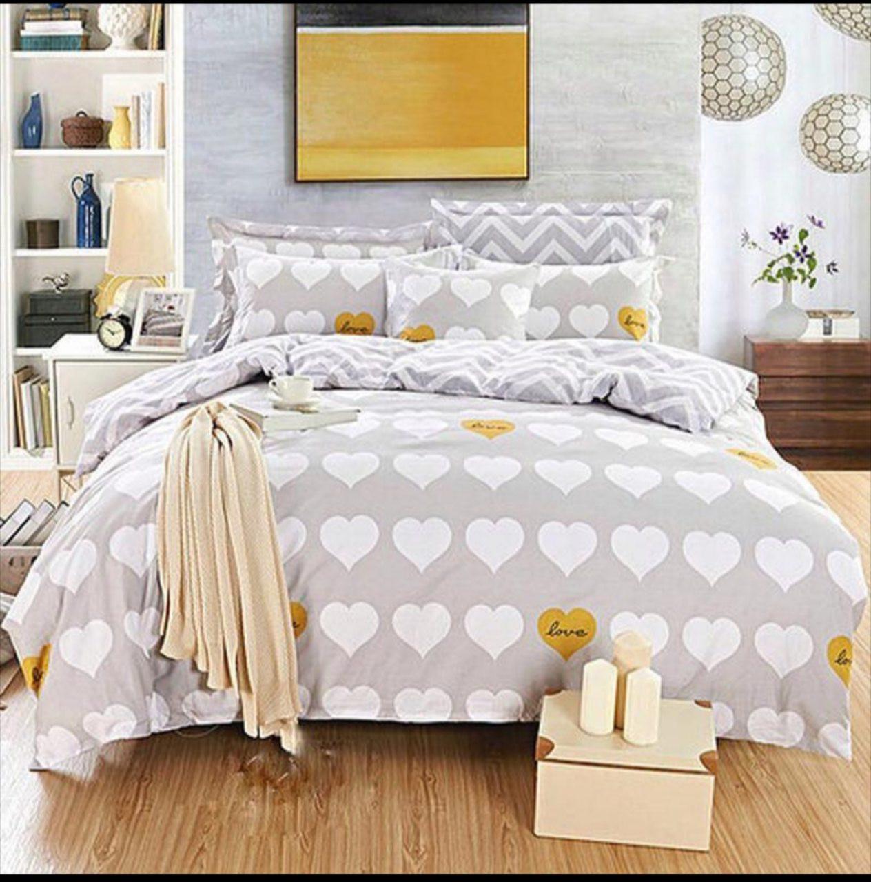 Комплект постельного белья евро на резинке 200*220 хлопок (12080) TM KRISPOL Украина