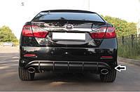 Диффузор заднего бампера Toyota Camry 50, Накладка на задний бампер Тойота Камри 50