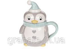 Чашка новогодняя Пингвин 370 мл (2шт)