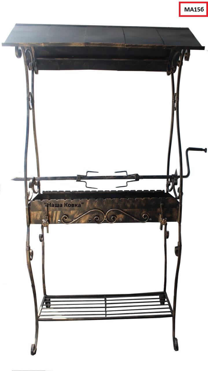 Мангал кованный с крышей, сталь 4 мм