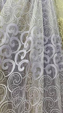 Тюль фатин белый VST-116080, фото 2
