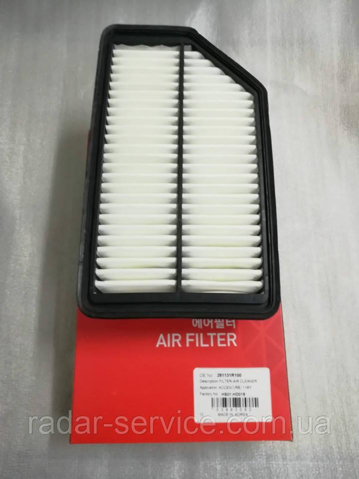 Фільтр повітряний кіа Ріо 3, KIA Rio 2011-14 QBR, HS01-HD018, 281131r100