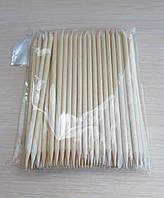 Апельсинові палочки для манікюру 10 см 100 шт в упаковці