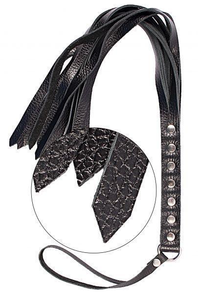 Флогер S&M Fancy Leather Floger Black   Плеть черная
