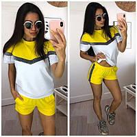 Летний костюм шорты и футболка, желтый, фото 1