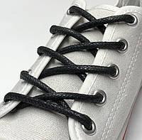 Шнурки с пропиткой круглые чёрные 200 см (Толщина 4мм)