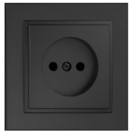 Розетка одинарная без заземления Despina Графит Mono Electric, фото 2
